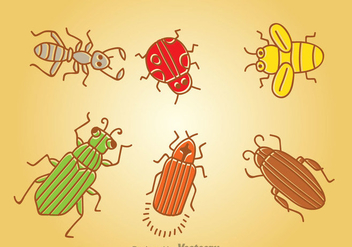 Cartoon Insect Vector - Free vector #344337