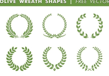 Olive Wreath Shapes Free Vector - vector gratuit #344657