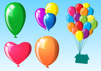 Flying Balloons Vectors - Free vector #344727