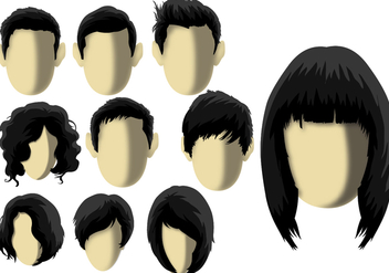 Coiffure - Hair model - бесплатный vector #344757