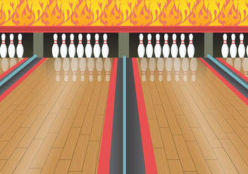 Bowling alley vector - бесплатный vector #344787