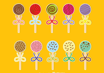 Sweet Cake Pops - vector gratuit #344867