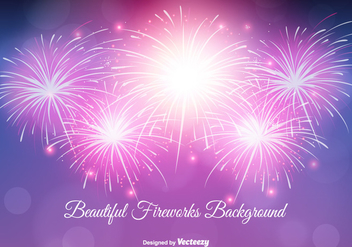 Beautiful Fireworks Background Illustration - vector gratuit #344917