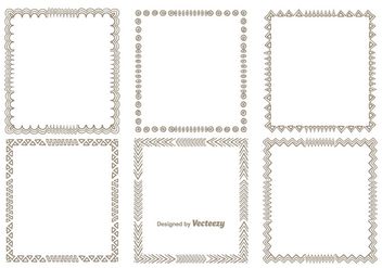 Hand Drawn Style Frame Set - Free vector #344937