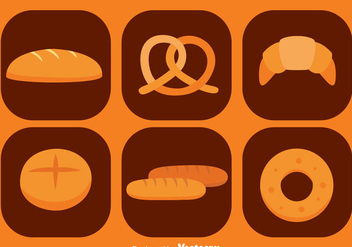 Bread Icons - vector gratuit #344947