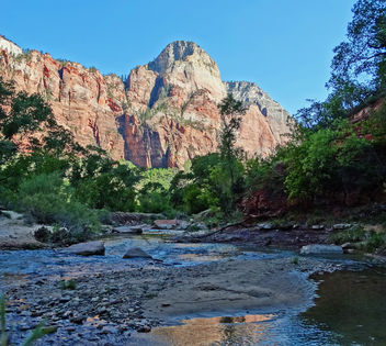 Zion Sunrise on Virgin River 5-14 - Kostenloses image #344977