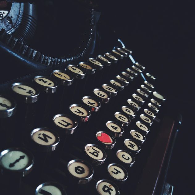Closeup of retro typewriter closeup - бесплатный image #345007