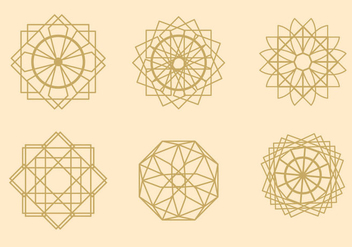 Geometric Arabesque Vectors - Free vector #345127