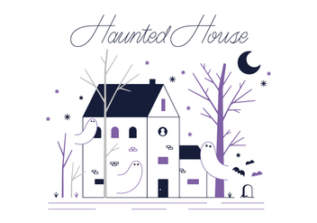Free Hunted House Vector - vector gratuit #345197