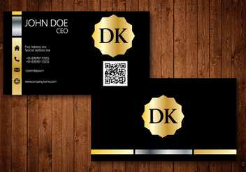 Golden Business Card - vector #345207 gratis