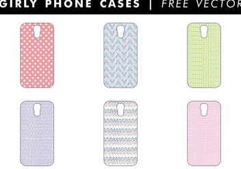 Girly Phone Cases Free Vector - vector gratuit #345277