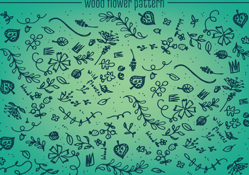 Free Wood Flower Pattern Vector Background - Free vector #345297