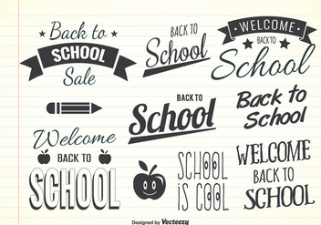 Cool Back To School Label Set - Free vector #345307