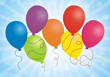 Set Of Balloons Free Vector - vector gratuit #345317