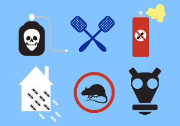 Vector Set of Pest Control Signs - vector gratuit #345337