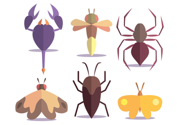 Insect Vector Set - vector gratuit #345367