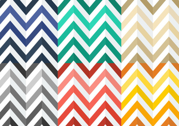 Free Colorful Flat Herringbone Patterns - vector gratuit #345447