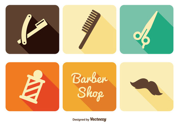 Barber Shop Icon Set - Kostenloses vector #345457