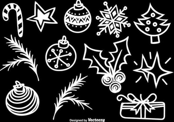 Doodle christmas icons - Kostenloses vector #345487