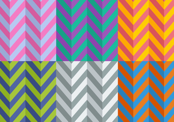 Free Flat Style Herringbone Patterns - Kostenloses vector #345517