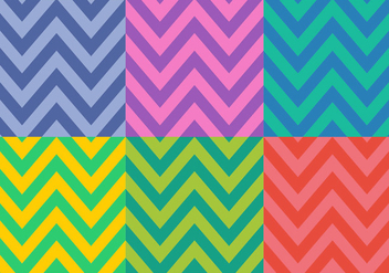 Free Colorful Herringbone Patterns - Kostenloses vector #345527