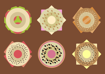 Free Filled Bagels Vector - vector gratuit #345537