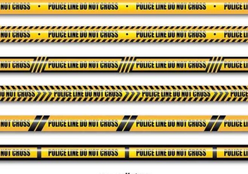 Yellow police lines - Free vector #345567
