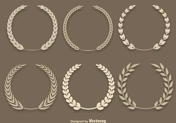 Wheat Laurel Vectors - vector gratuit #345627
