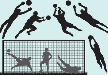 Goal Keeper Silhouettes - Free vector #345677