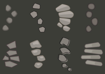 Free Stone Path Vector Illustration #1 - бесплатный vector #345727