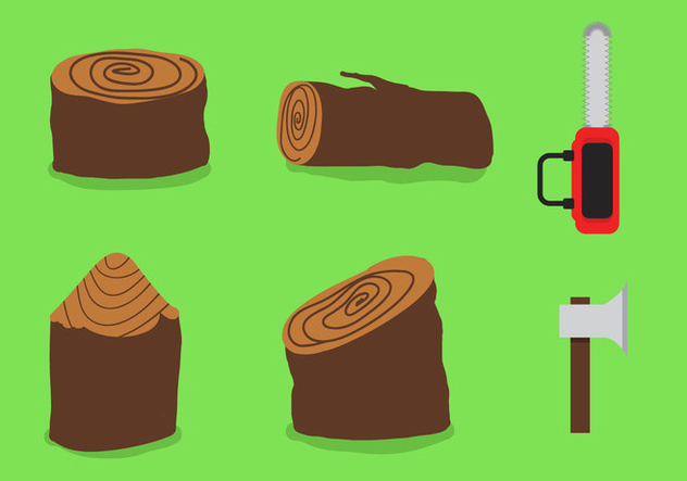 Wood Logs Vector - Free vector #345737