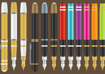 Fountain Pens - vector gratuit #345777