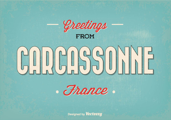Carcassonne France Greeting Illustration - бесплатный vector #345997