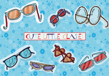 Free Cute Hand Drawn Glasses Vector Background - Kostenloses vector #346057