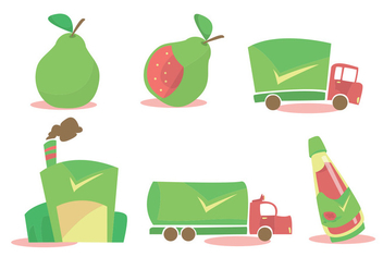 Guava Processing Vector Set - бесплатный vector #346097