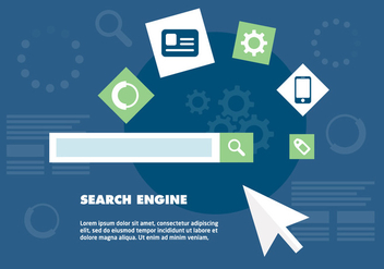 Free Search Engine Optimization Vector Background - vector gratuit #346137