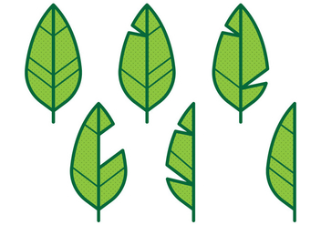 Banana Leaf Icon - vector #346327 gratis
