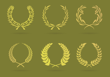 Wreaths Illustrations Vector - vector gratuit #346437