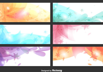 Abstract Floral Backgrounds - vector gratuit #346447
