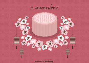 Mooncake Vector Background - Free vector #346457