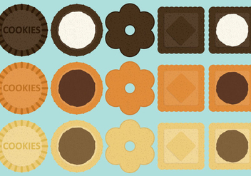 Sandwich Cookie Vectors - vector gratuit #346677