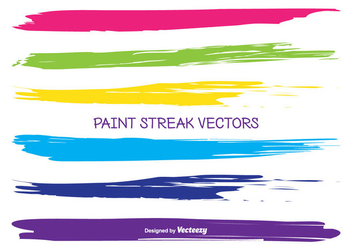 Paint Streak Vectors - бесплатный vector #346687