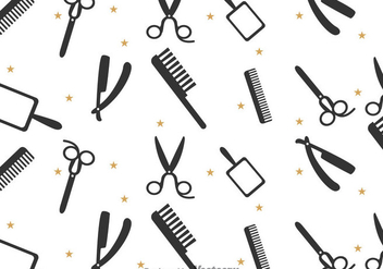 Barber Tools Pattern - vector gratuit #346707