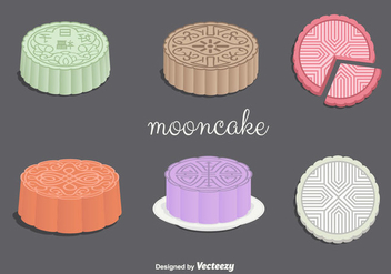 Mooncake Vectors - бесплатный vector #346727