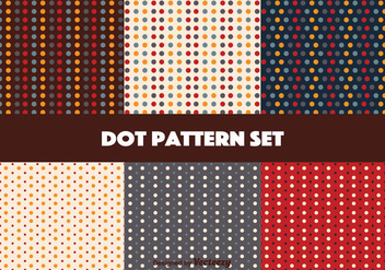 Retro Coloro Vector Dot Pattern Set - Free vector #346777