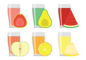 Vector Fruit Juices - vector gratuit #346807