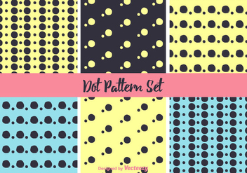Neon Dot Pattern Vector Set - Kostenloses vector #346837