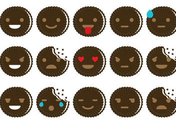Oreo Emoticon Vectors - vector gratuit #347067