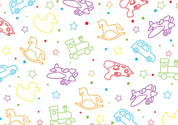 Children Toys Pattern - Kostenloses vector #347097