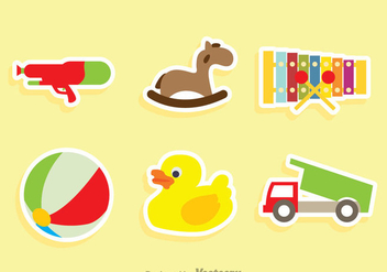 Children Toys Sticker Vectors - бесплатный vector #347117